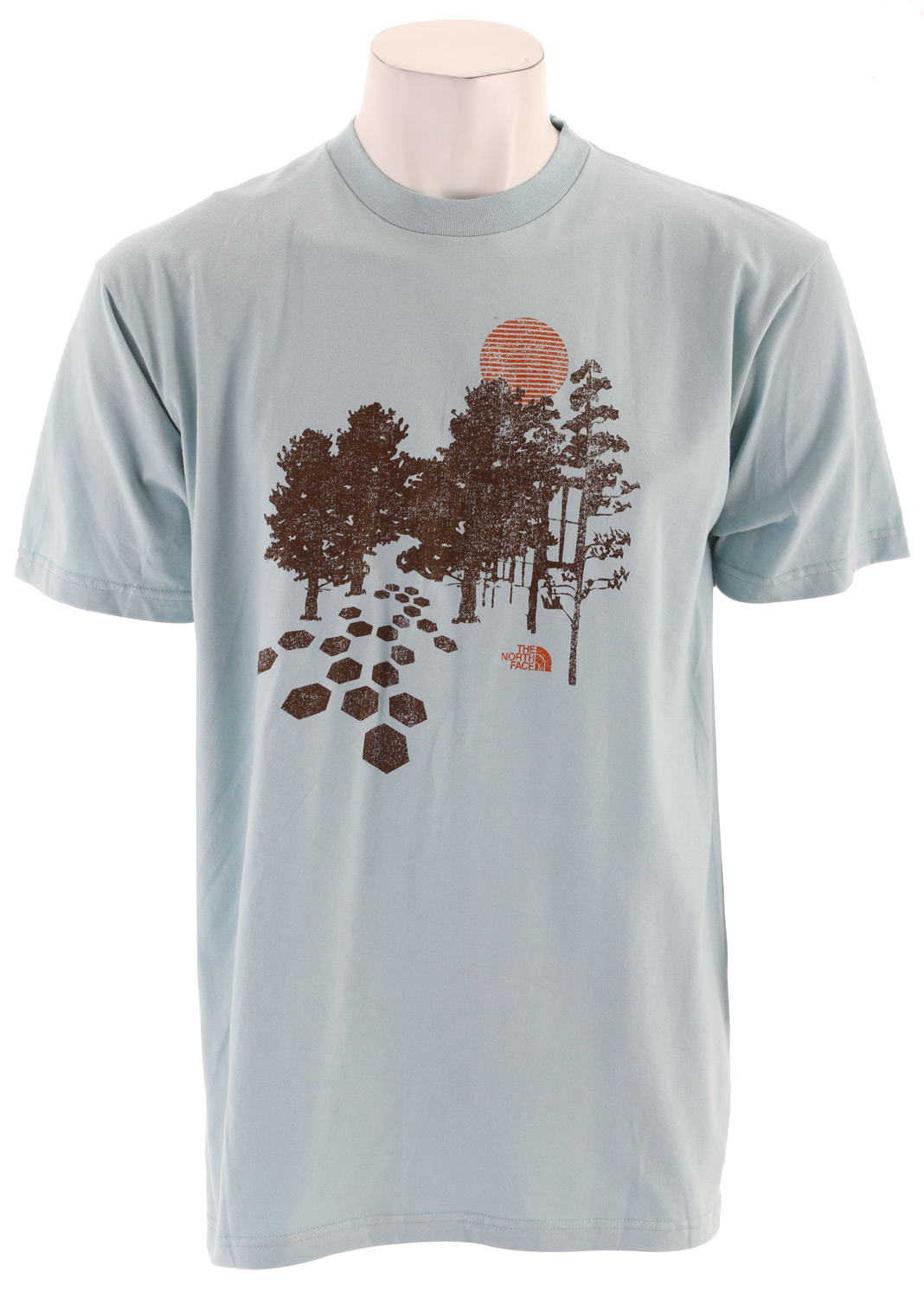 Key Features of The The North Face Pathaway T-Shirt: Regular Fit Crew Neck Short Sleeve Fabric: 94% cotton, 6% organic cotton jersey Comfortable, lightweight, easy-care fabric 1x1 rib on collar Graphic in plastisol print at chest - $19.95
