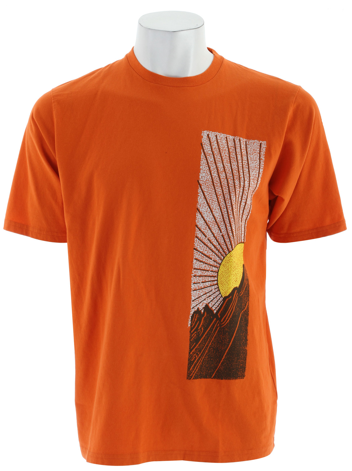 Key Features of The The North Face Sun Junction T-Shirt: Regular Fit Crew Neck Short Sleeve Fabric: 100% sueded cotton jersey Comfortable, lightweight, easy-care fabric 1x1 rib on collar Graphic in water-based print at chest - $24.95