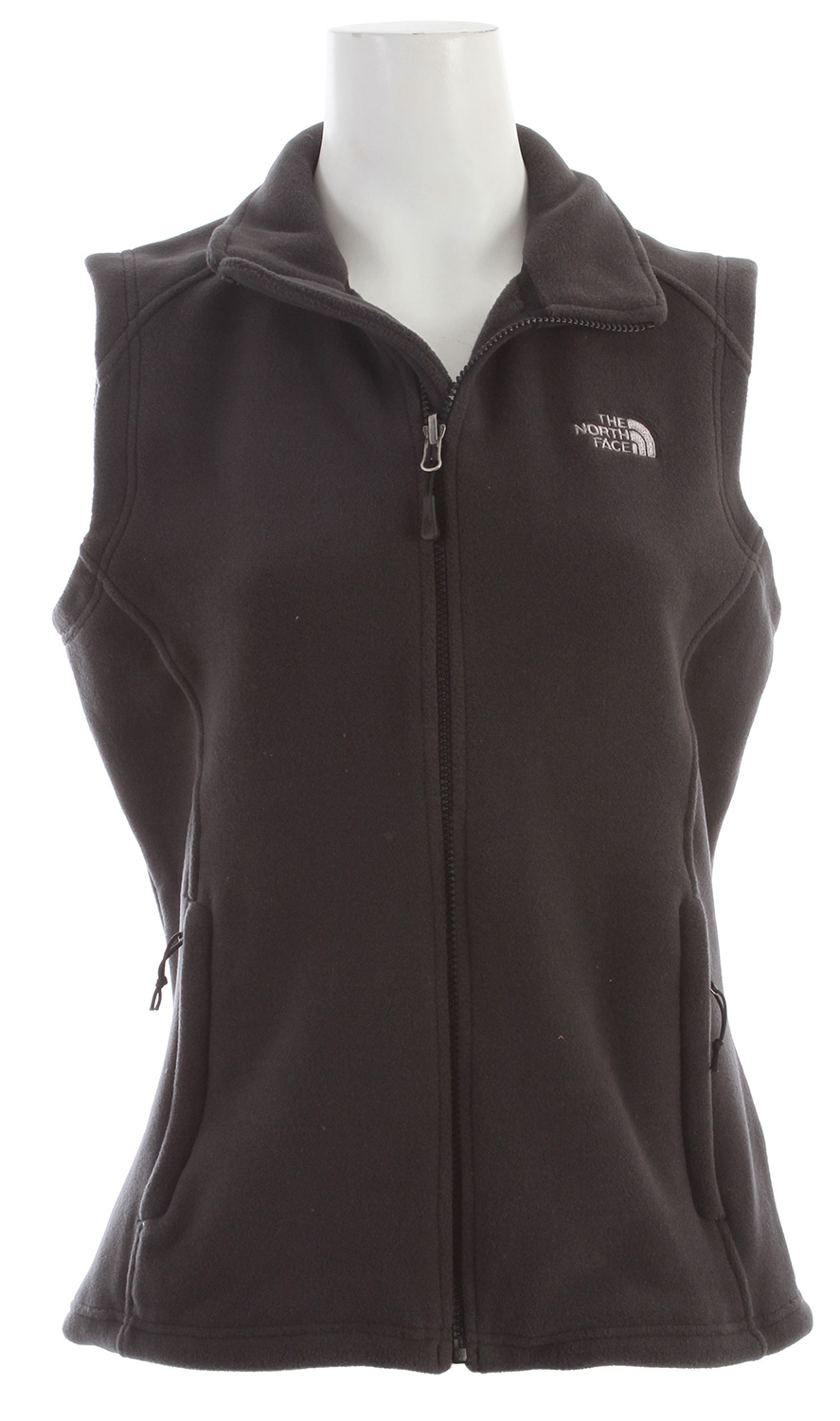"A midweight, rapid-drying fleece designed to be worn alone or layered on active adventures in colder weather. Features The North Face FlashDry technology, which works with your body to improve dry time.Key Features of The North Face RDT 300 Vest: 300-weight fleece with FlashDry fibers to increase dry time Zip-in compatible integration with complementing garments from The North Face Two secure hand pockets Hem cinch-cord Avg weight: 301g Center Back: 25"" Fabric: RDT 300-weight fleece with FlashDry - $52.95"