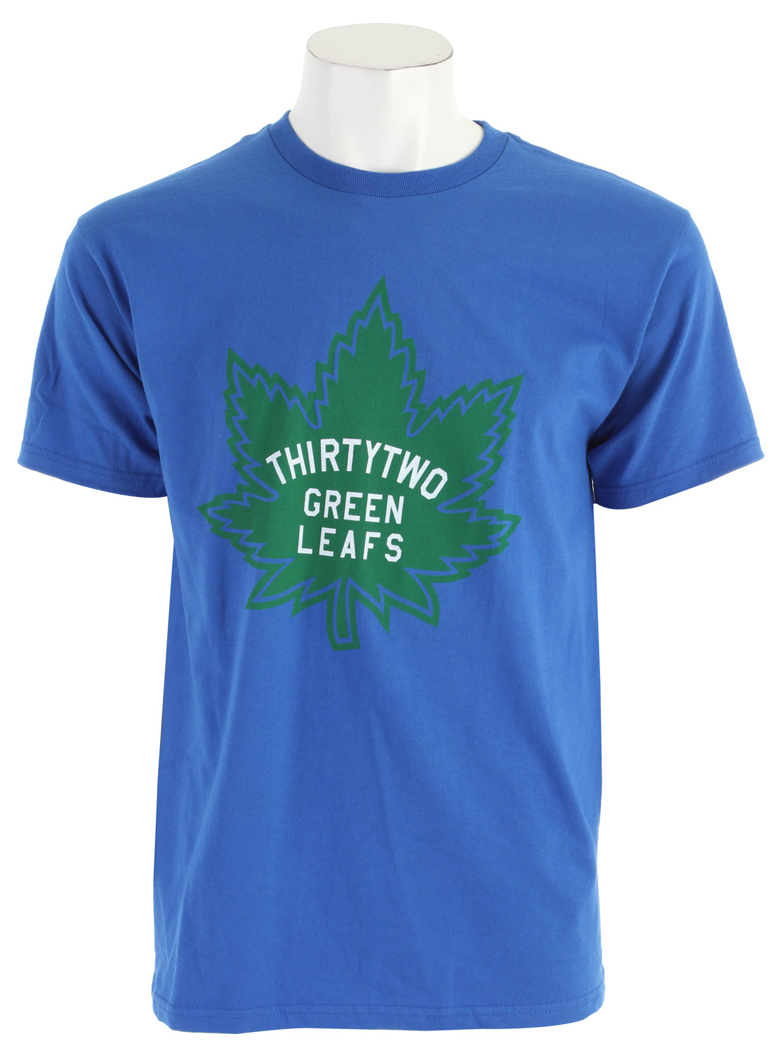 Key Features of The 32 - Thirty Two Green Leafs T-Shirt: Regular Fit Crew Neck Short Sleeve 100% Cotton Standard Fit Short Sleeve Shirt - $18.95