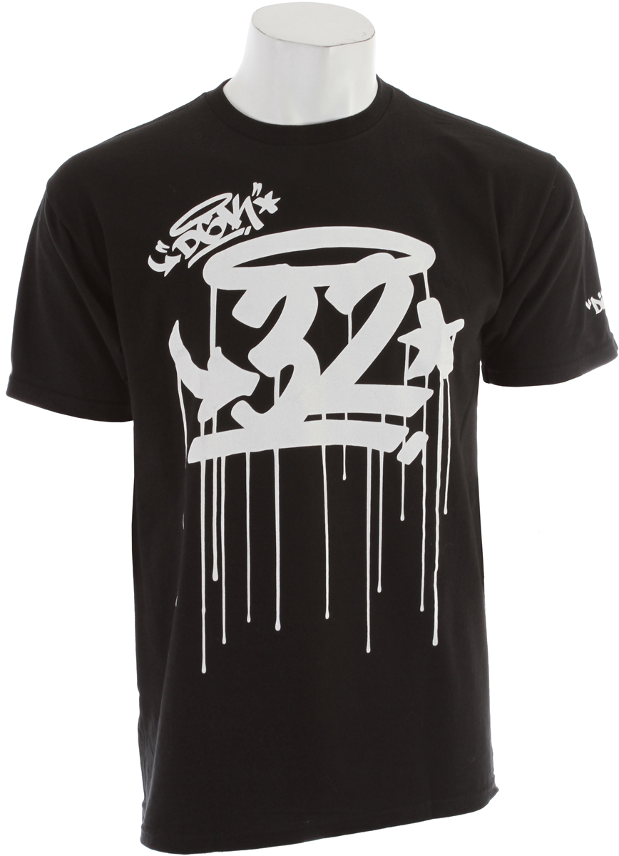 Key Features of the 32 - Thirty Two The Drips T-Shirt: 100% Cotton Standard Fit Short Sleeve Shirt - $14.95