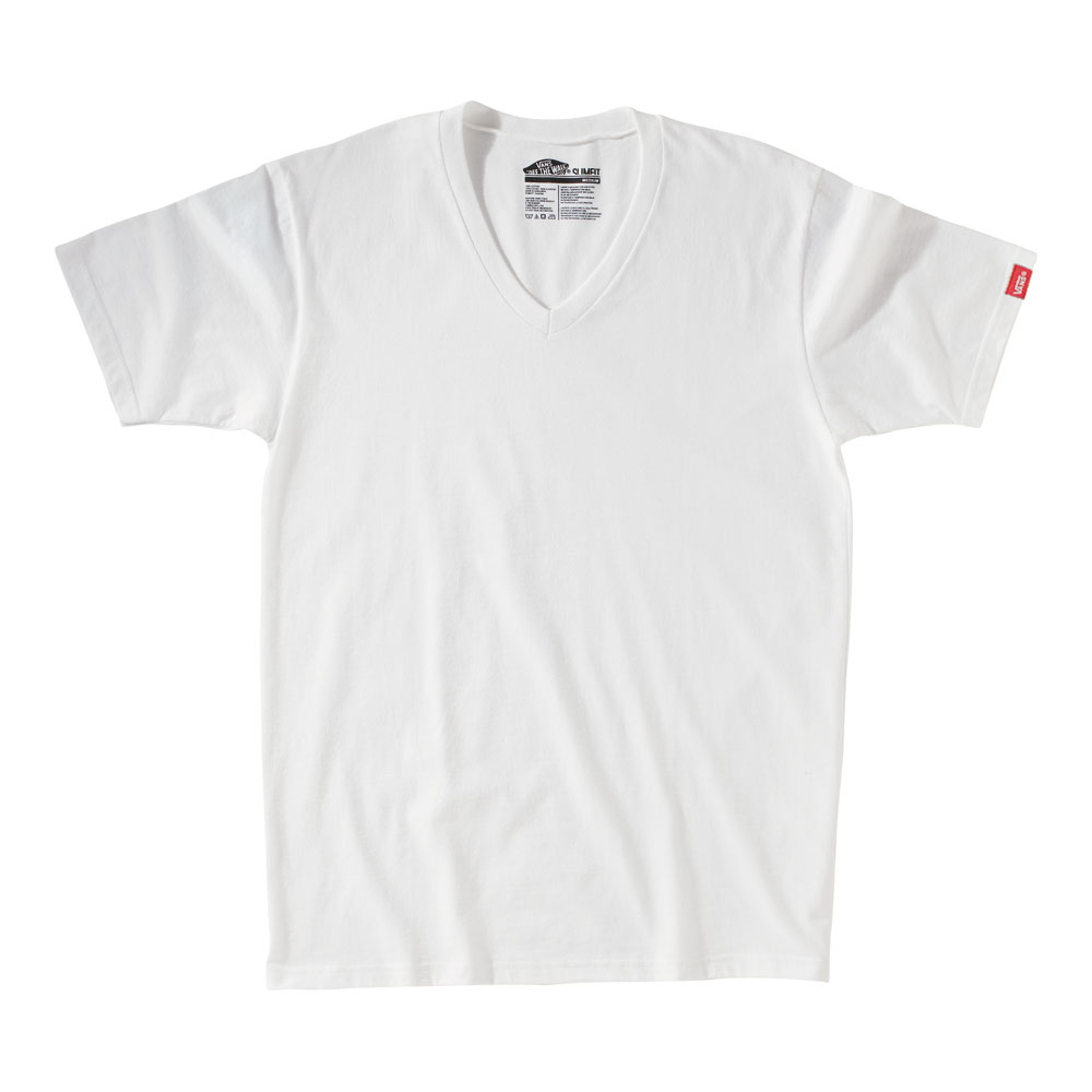 Skateboard Key Features of The Vans Basic V-Neck T-Shirt: Regular Fit V Neck Short Sleeve 100% Cotton 30/1 Custom Fit 4.5 oz. combed ringspun cotton V-neck shirt Garment washed for soft handfeel 50% Cotton 50% Polyester for heathered colorways Clip label on sleeve Core Basics Collection label pack - $17.95