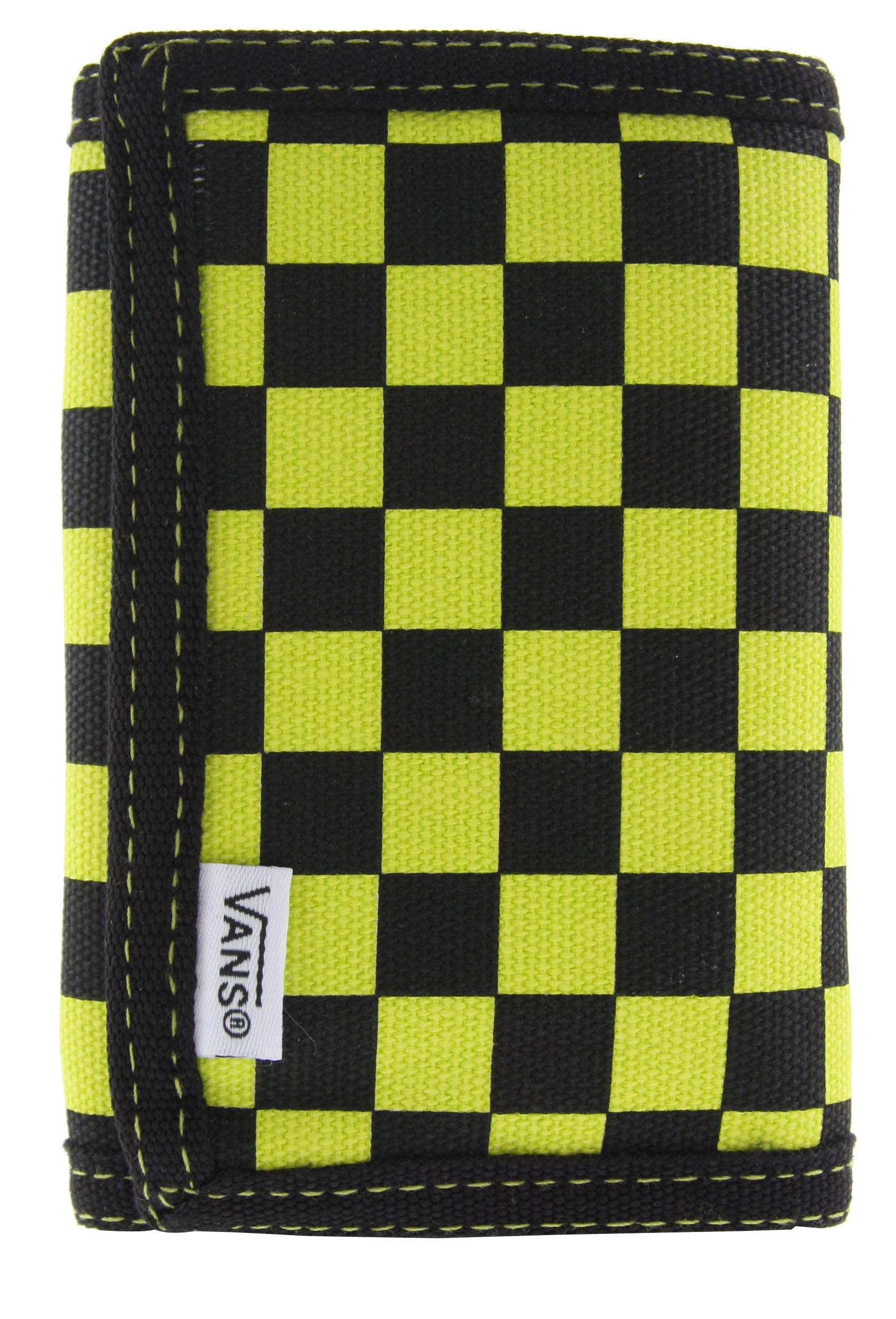 Skateboard 1% Cotton Canvas trifold wallet with all-over checkerboard print - $13.95