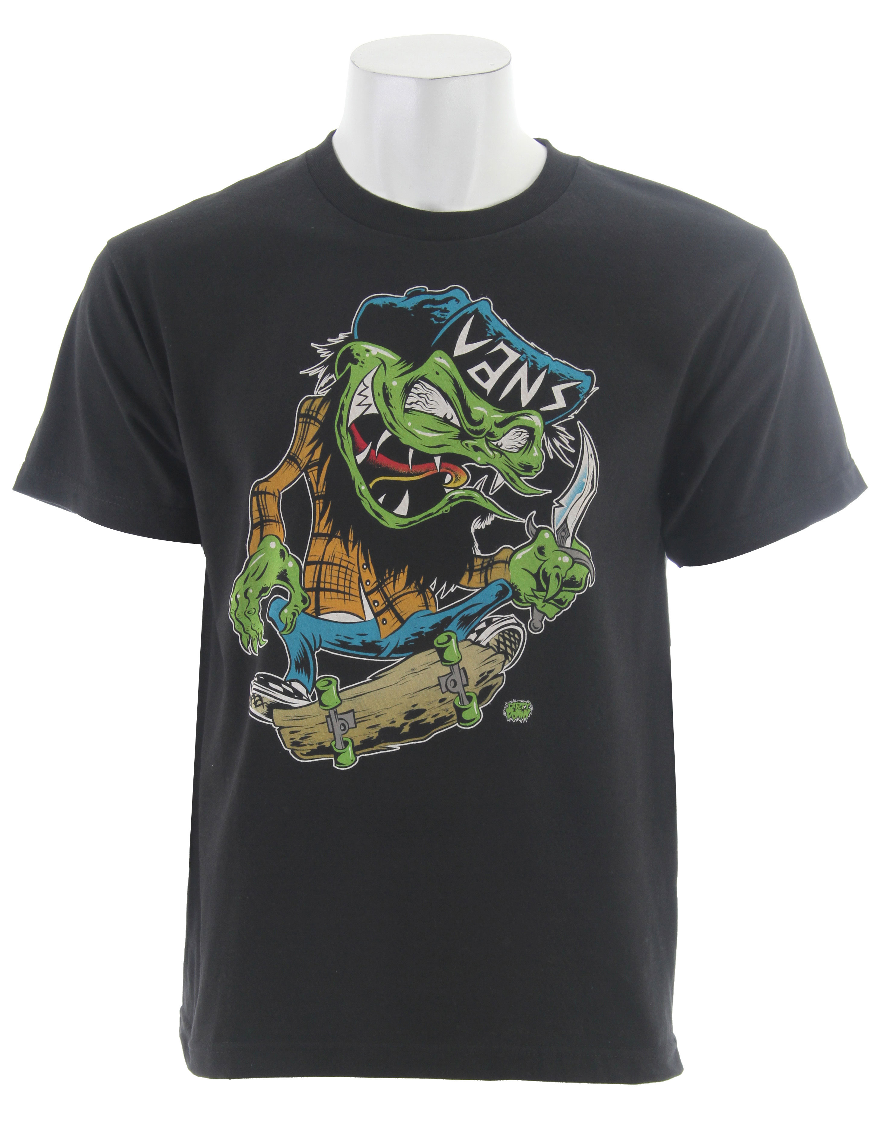 Skateboard Key Features of The Vans Dirty Donny Skate Zombie T-Shirt: Regular Fit Crew Neck Short Sleeve - $7.95
