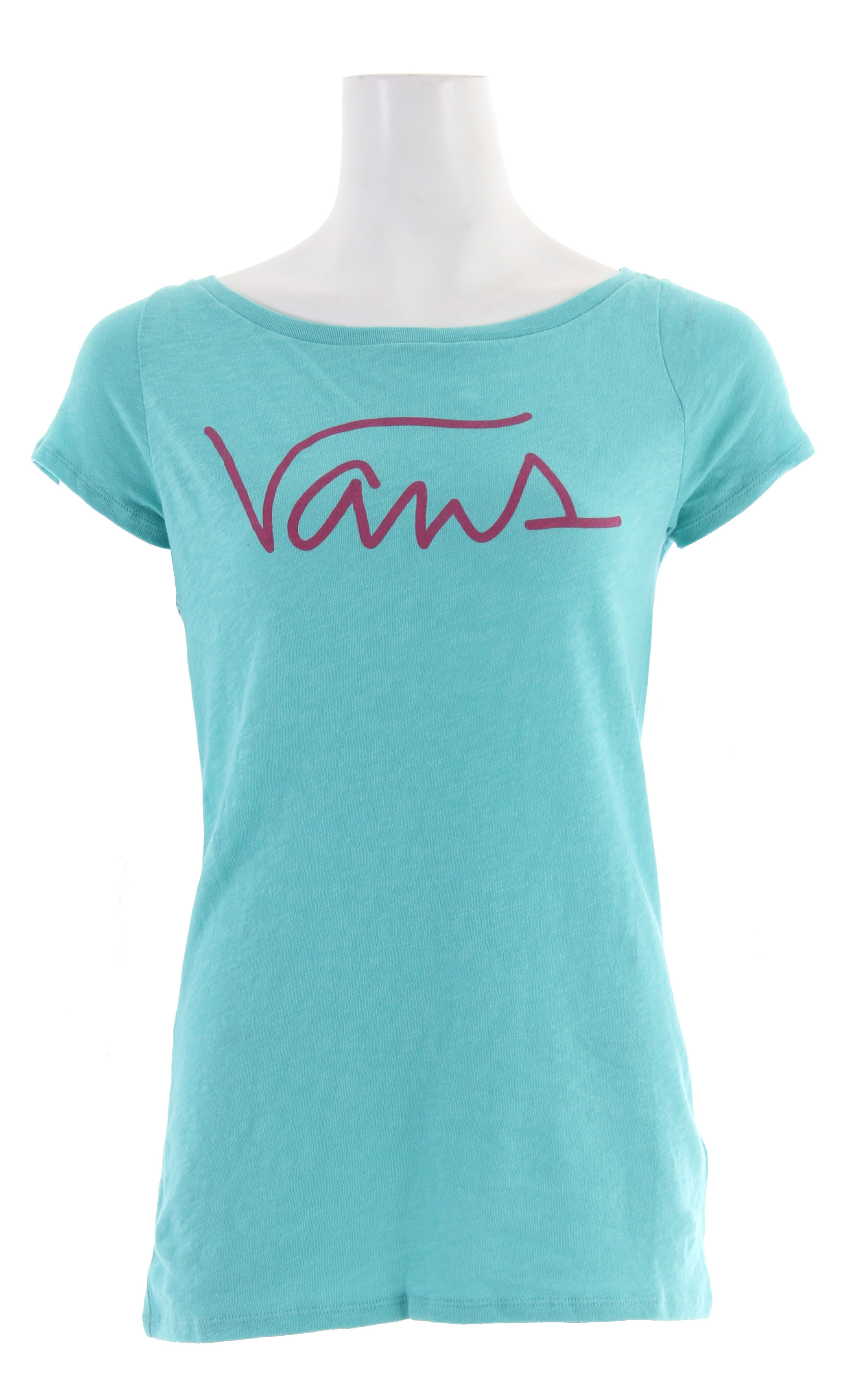 Skateboard For the ladies, are you looking for a fresh, new way to show your pride in your skateboard  The Vans Fresh Take T-Shirt features a new, revamped Vans written in cursive. With short sleeves, this crew neck shirt was designed to make you look good. Show your pride in how you board with this Vans Fresh Take shirt!Key Features of The Vans Fresh Take T-Shirt:  Regular Fit  Crew Neck  Short Sleeve - $8.95