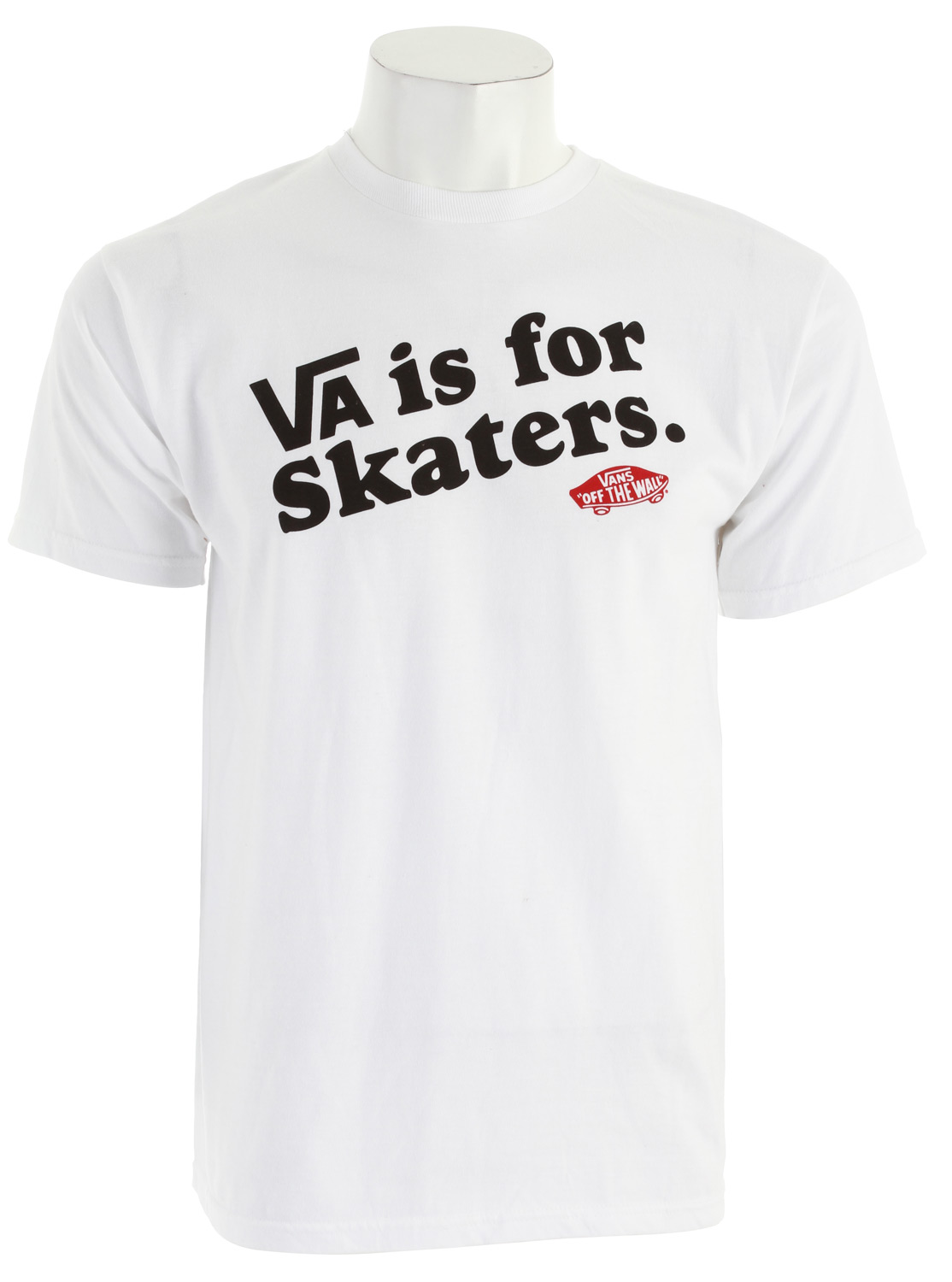 Skateboard Key Features of The Vans VA Is For T-Shirt: Regular Fit Crew Neck Short Sleeve - $10.95