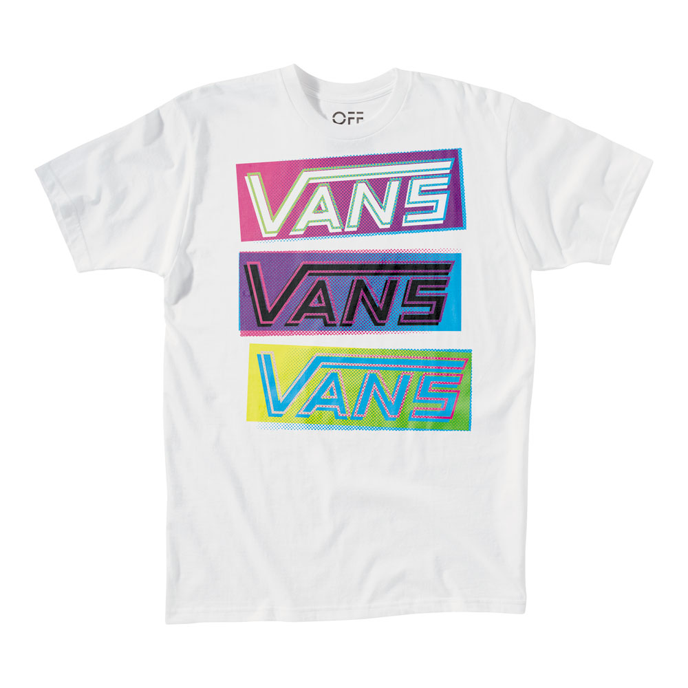 Skateboard Key Features of The Vans 3 Stack T-Shirt: Regular Fit Crew Neck Short Sleeve - $12.95