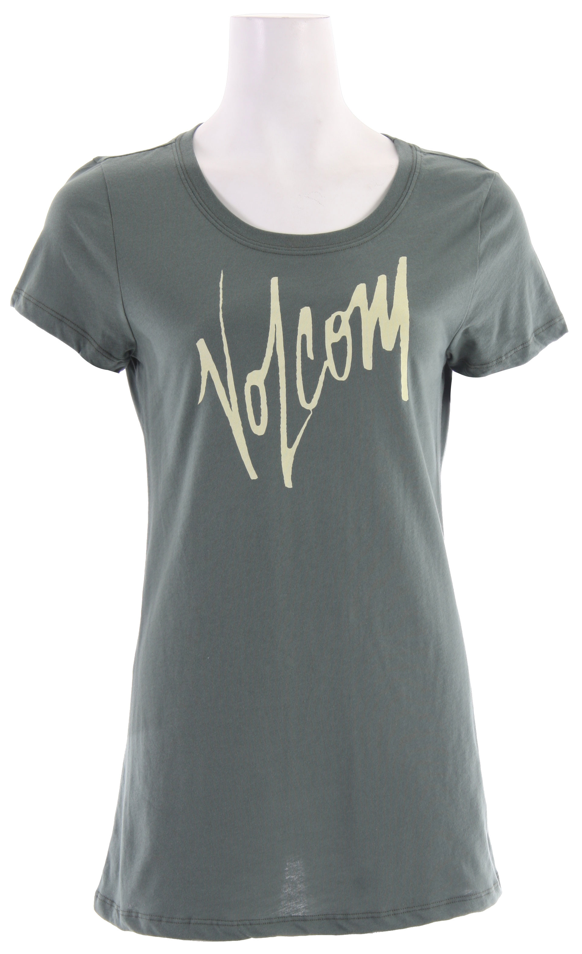 "Surf Key Features of The Volcom Gotta Have It Sheer T-Shirt: Regular Fit Crew Neck Short Sleeve S/S sheer tee with waterbase ink screen at front chest 26"" length 100% Cotton Extra Fine Jersey - $11.95"