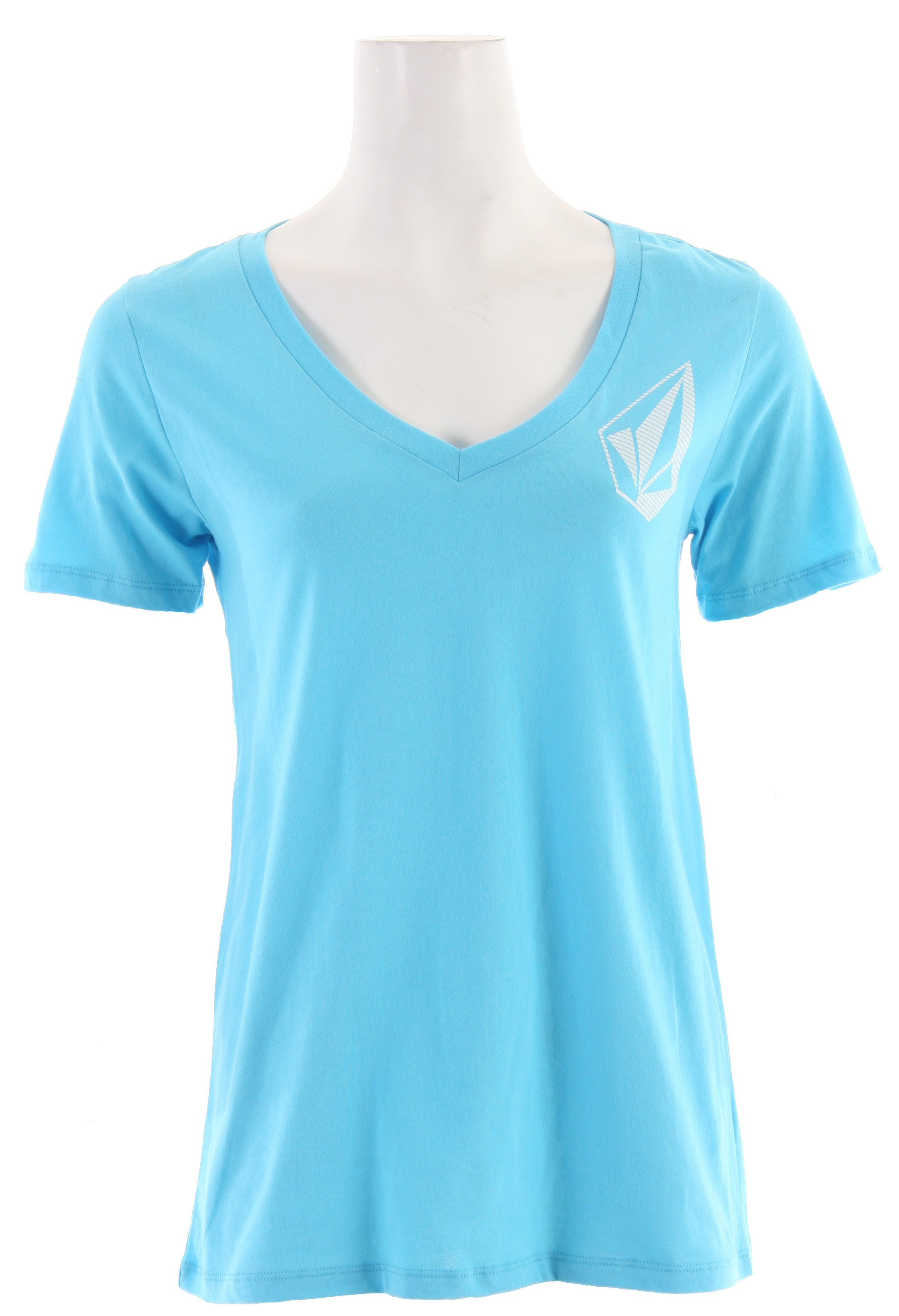 "Surf Key Features of The Volcom Stone Cool Boyfriend V-Neck T-Shirt: Regular Fit V Neck Short Sleeve V-neck tee with waterbase ink screen at front chest 26"" length 100% Cotton Extra Fine Jersey - $21.95"