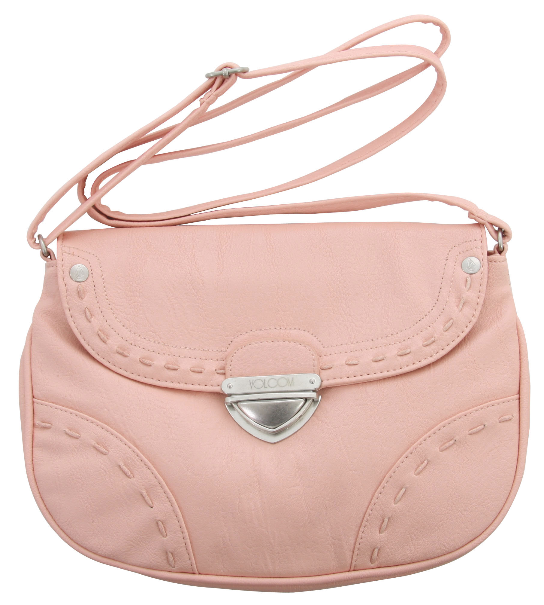 "Entertainment Key Features of the Volcom Nocturnal Crossbody Purse: Soft, slightly wrinkled PVC Purse with adjustable shoulder strap.6.5""H x 10""W x 2""D 100% Polyvinyl Chloride (PVC) - $34.95"