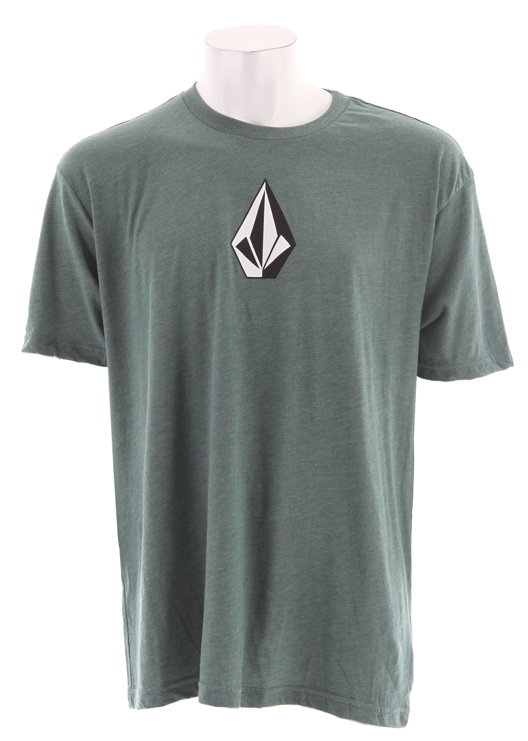 Surf Key Features of The Volcom The Stone Three Heather T-Shirt: Regular Fit Crew Neck Short Sleeve Basic screenprint 50/50 Cotton/Poly jersey - $16.95