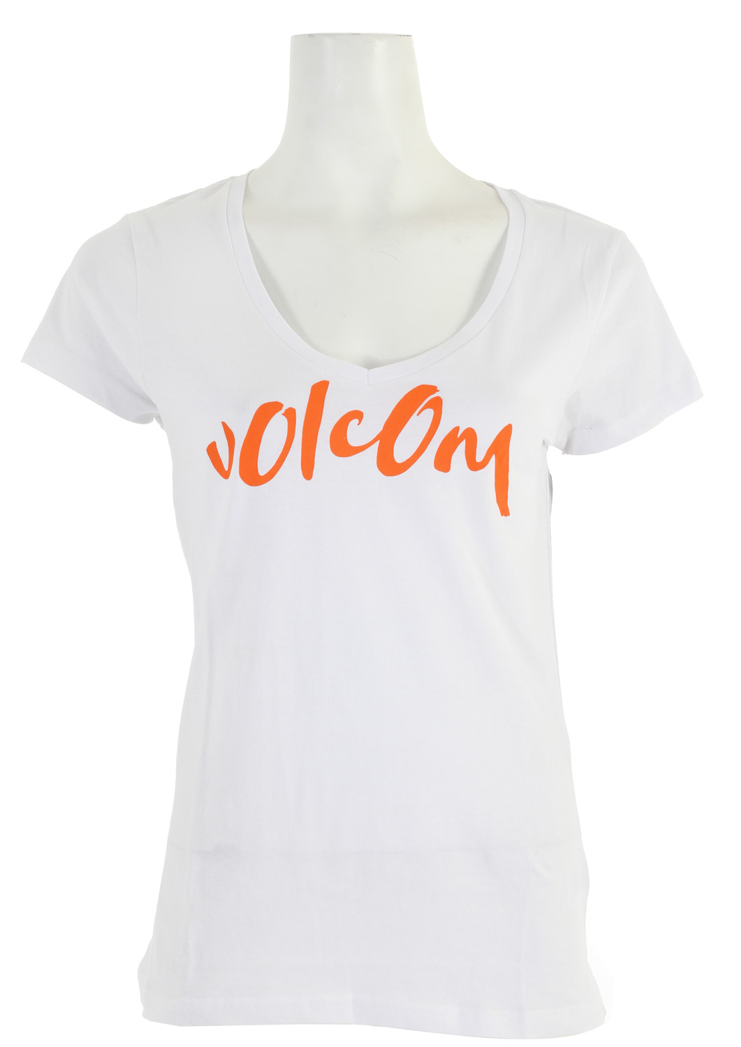 "Surf Key Features of The Volcom Core Script Slim Scoop V T-Shirt: Slim Fit T-Shirt Crew Neck Short Sleeve 100% Cotton Extra Fine Jersey, 40s. Scooped V-neck tee with waterbase ink screen at front chest. 26 3/4"" - $12.95"