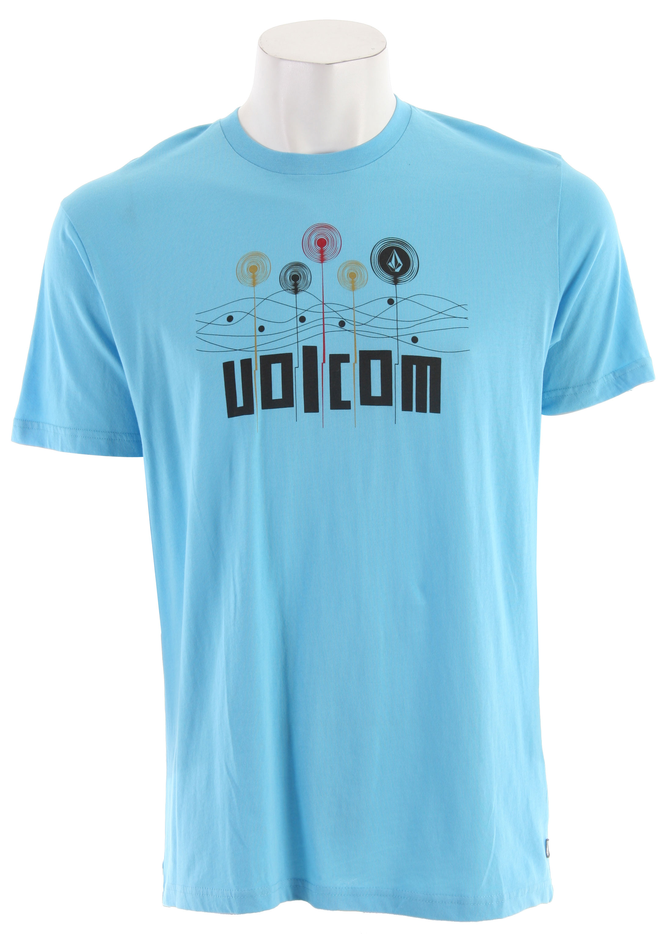 Surf Key Features of the Volcom Dynamic Slim T-Shirt: Basic Screen Print 100% Organic Cotton Contrast Neck Tape - $21.95