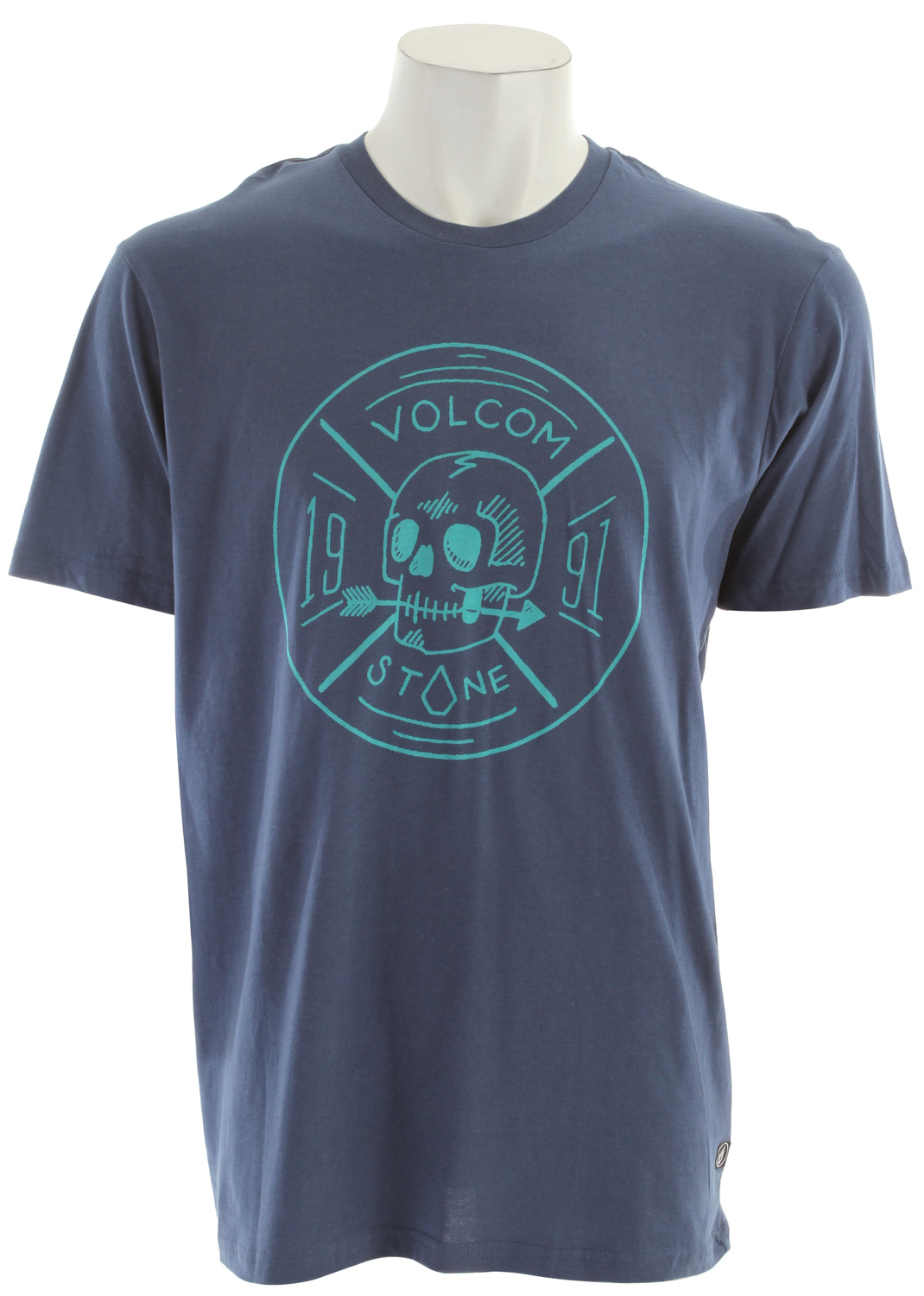 Surf Key Features of The Volcom Territorial T-Shirt: Regular Fit Crew Neck Short Sleeve Basic screenprint Contrast neck tape Modern Fit 100% Organic Cotton - $12.95