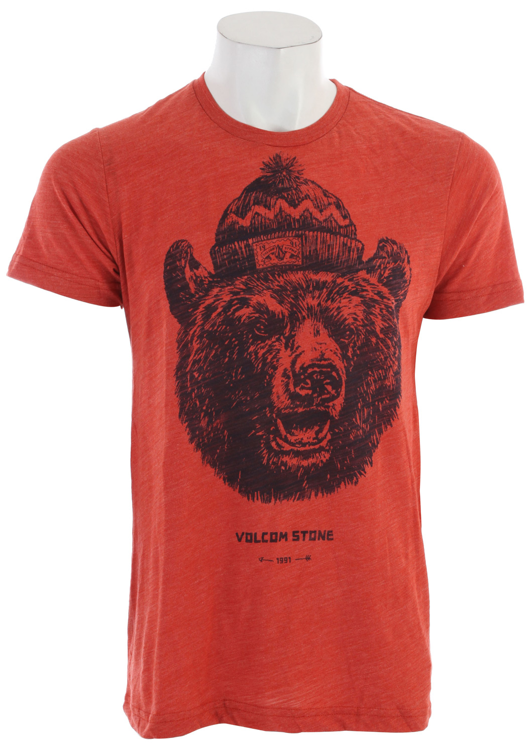 Surf Key Features of the Volcom Grizzly T-Shirt: Basic screenprint Modern fit 50% polyester/37% cotton/13% rayon tri blend slub - $27.00