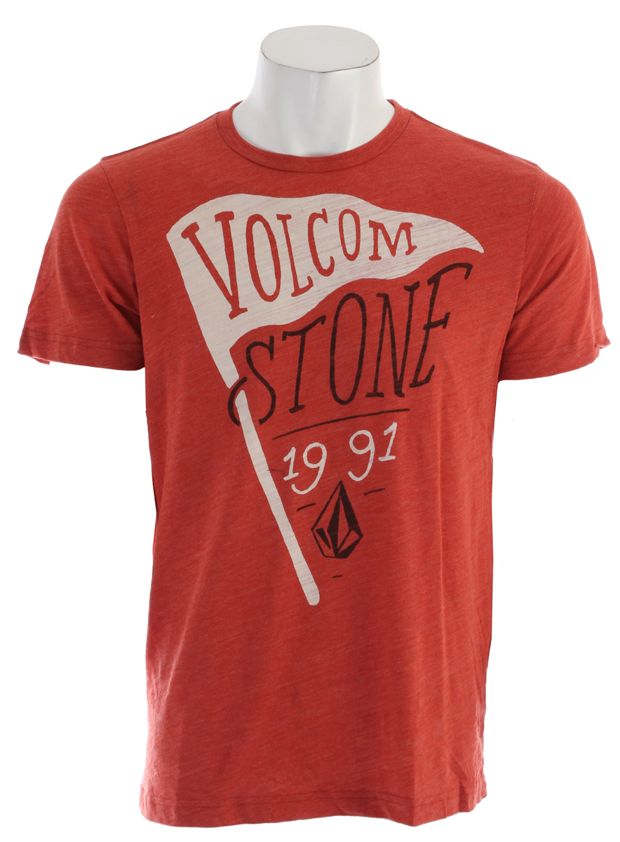 Surf Key Features of the Volcom Los Stoney T-Shirt: Basic Screenprint Modern Fit 50% Polyester / 37% Cotton / 13% Rayon Tri Blend Slub - $17.95
