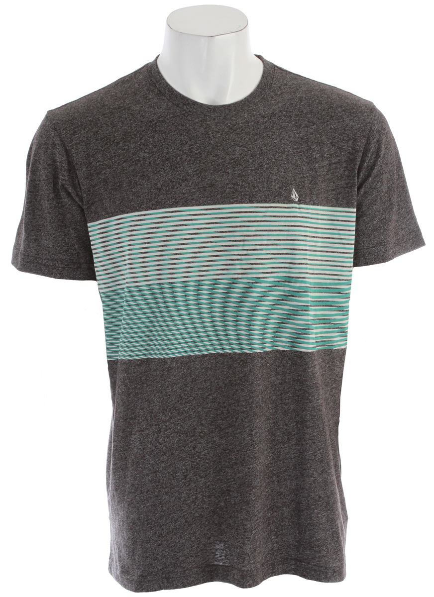 Surf Key Features of the Volcom Nue Volca T-Shirt: Basic Screenprint Modern Fit 50% Polyester / 38% Cotton / 12% Rayon Mock Twist - $17.95