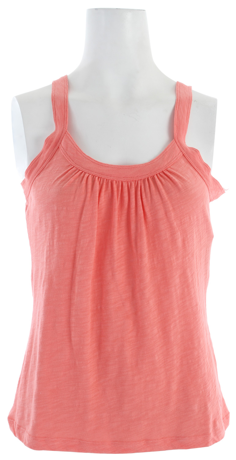 "Surf Slightly smocked at the top, this soft jersey cami looks great layered or all on its own.Key Features of the White Sierra Lisbon Tank Top:  60% cotton 40% polyester slub jersey knit  Back length 23.5"" - $13.95"