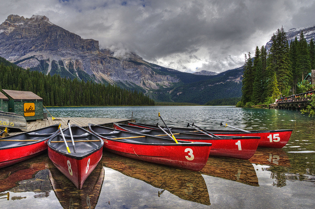 Kayak and Canoe Emerald Lake is one of the most admired destinations in Yoho National Park