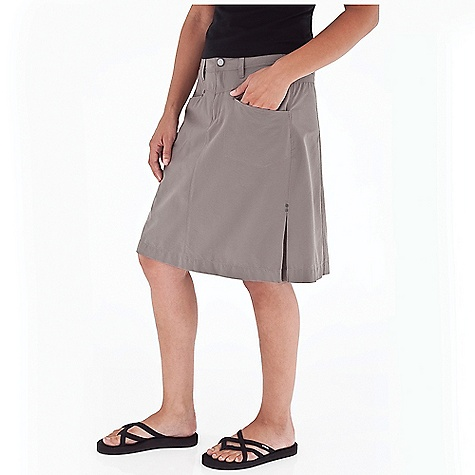 Camp and Hike On Sale. Free Shipping. Royal Robbins Women's Terra Hiker Skirt DECENT FEATURES of the Royal Robbins Women's Terra Hiker Skirt Zip secured front pocket Hook and loop secured pocket Drop-in cell phone pocket Center back zip secured pocket The SPECS Regular fit 21in. skirt length Fabric: Backcountry Stretch Ripstop 4.25 oz 94% Nylon / 6% Spandex UPF 50+ - $45.47