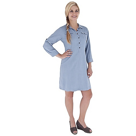 Entertainment Free Shipping. Royal Robbins Women's Coco Shirt Dress DECENT FEATURES of the Royal Robbins Women's Coco Shirt Dress 3/4 sleeve Roll-up sleeve tabs 3/4 button front with shirt collar 2 chest pockets The SPECS Regular fit Length: 37in. Fabric: City Blend 5.5 oz 55% Linen / 45 Rayon% Garment washed - $74.95