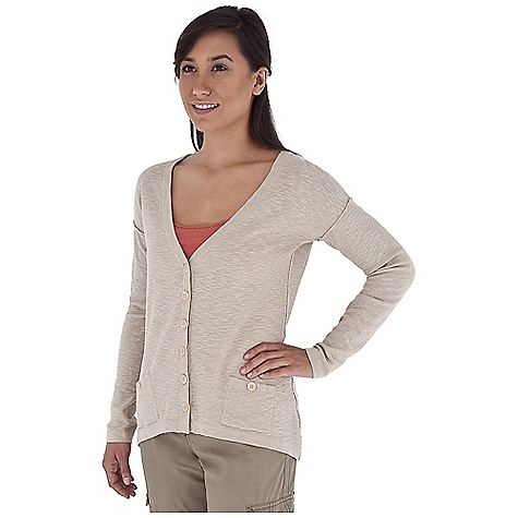 Entertainment Free Shipping. Royal Robbins Women's Pacific Heights Cardi Cardigan DECENT FEATURES of the Royal Robbins Women's Pacific Heights Cardi Cardigan Lightweight V-neck cardigan Dolman sleeves 2 pockets with button closure Dropped back hem line The SPECS Regular fit Length: Front: 24in., Back: 29in. Fabric: Pacific Heights Blend 12 g 73% Cotton / 27% Linen - $69.95