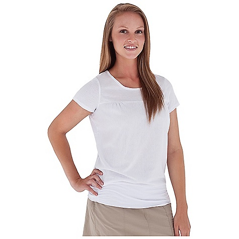 Entertainment Free Shipping. Royal Robbins Women's Briza S-S Top DECENT FEATURES of the Royal Robbins Women's Briza Short Sleeve Top Cap sleeve Banded bottom for blouson The SPECS Regular fit Tunic length Fabric: Briza Dri-Release 5 oz 82% Polyester / 14% Cotton / 4% Elastane Garment washed - $54.95