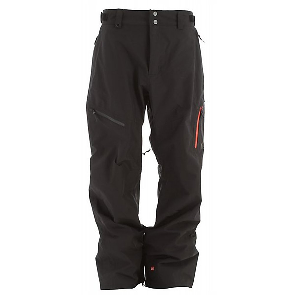 Snowboard Quiksilver Travis Rice Gore-Tex Mens Snowboard Pants - The Quiksilver Travis Rice Gore-Tex Snowboard Pant has got a pretty cool style as well as features to keep you warm and comfortable when you head out to the mountain. Gore-Tex is one of the shining stars of this jacket as it provides you with unprecedented breathability as well as waterproofness so that you stay dry when the snows come in sideways. Inner thigh vents help you further regulate your body temp on sunny spring days, and a light lining in the seat and knees adds comfort. The Quiksilver Travis Rice Gore-Tex Snowboard Pant is the perfect edition to any jacket. . Exterior Material: Nylon Gore-Tex, Taped Seams: Fully Taped, Waterproof Rating: 20,000mm, Breathability Rating: 20,000g, Thigh Zip Venting: Yes, Articulated Knee: Yes, Cargo Pockets: No, Warranty: One Year, Waterproof: Totally Waterproof (20,000mm+), Breathability: Very High Breathability (>15,001g), Use: Snowboard, Type: Shell, Cut: Regular, Waist: Adjustable, Pockets: 1-2, Model Year: 2012, Product ID: 307414 - $179.99
