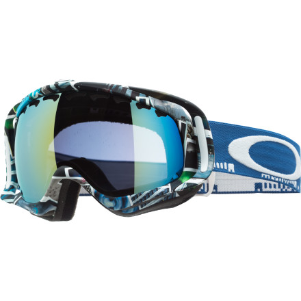 Ski Just as JP brought a fresh approach to freeskiing, his Oakley JP Auclair Signature Photo Crowbar Goggle can supply fresh style and crisp vision when you need it most. You can be sure that a member of the New Canadian Air Force needs a wide, clear view to stomp all those corked spins over the years, and he gets it thanks to Oakley's top-shelf optics. - $150.00