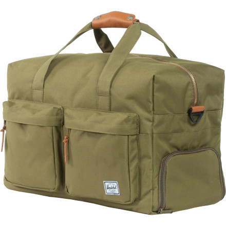 Entertainment Load the Herschel Supply Walton Duffel Bag with enough clothes for a weekend trip. This duffel keeps your essentials organized and dishes out a slick vintage feel that is relaxed and straightforward. - $99.95