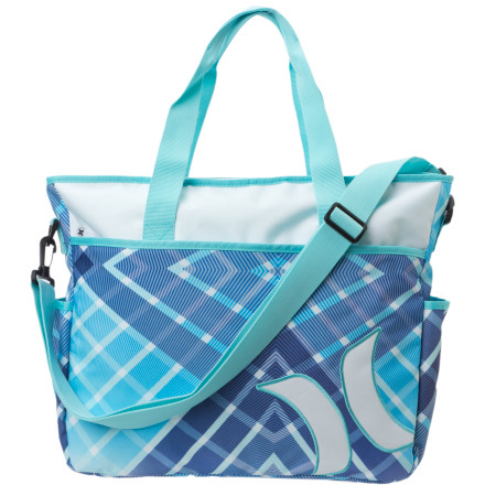 Surf A towel may have been all you were required to carry to the beach when you were a kid, but these days, between your electronics, cosmetics, and (of course) at least one change of clothes, it feels like you're bringing along the kitchen sink. Keep everything together and pack it all in the Hurley Women's Sync Beach Tote. This chic zip-top tote features multiple top load pockets on the outside and plenty of internal organization as well so that nothing ends up swimming around with your towel and getting lost. Includes a removable shoulder strap to help you lug everything around. - $35.96