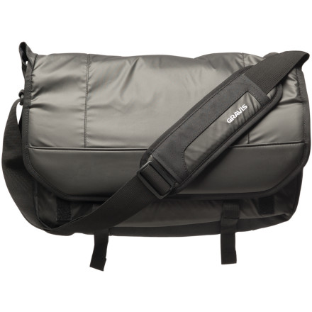 Entertainment Your backpack may have straps for the deck, but your new work or school schedule requires something more specificthis Gravis Hobo Medium Bag. Drop your laptop, lunch, and work (or travel) essentials into this messenger bag and save the pack for the off-duty days. Unbuckle the dual clips and lift the main flap to access your personal items you have neatly organized in the multiple pockets. Dual slots, a single window pouch, and large zippered pocket won't cause hang-ups when it's time to flash the metro pass, raise the jam levels, or charge some coffee on the chilly commute. - $32.48