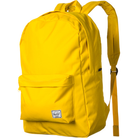 Camp and Hike You work hard to keep your body fit. So, why would you spoil your sinewy style by wearing a fat backpack The Herschel Supply Classic Backpack has a tall, lean shape that gives you a streamlined look without sacrificing on space. - $39.95
