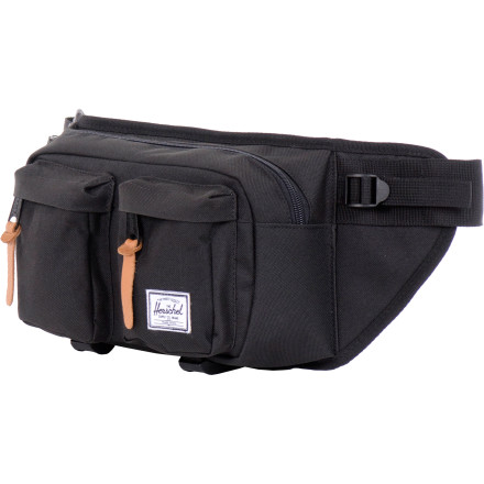Camp and Hike Whether worn around the waist or satchel-style over the shoulder, the Herschel Eighteen Waistpack carries everything you need for a day of mellow hiking or cruising around a strange city. - $44.95
