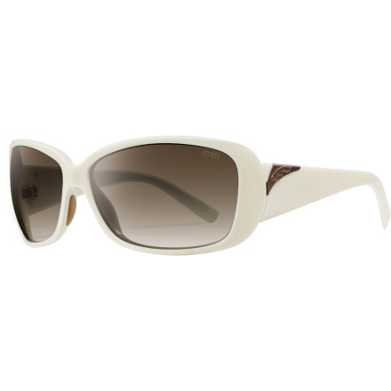 Camp and Hike The Shorewood Sunglasses feature a glamorous silhouette that works well with nearly any face shape, and Smith's patented Carbonic TLT lenses that mirror your eye's curvature for crystal-clear vision. - $79.95