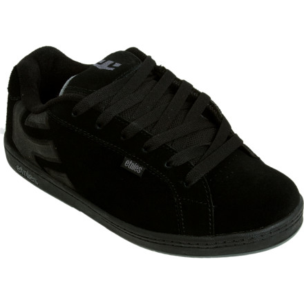 Skateboard When your boy graduates from skateboard street luge to ollies over the neighbor\222s cat, reward him with the Etnies Boys\222 Fader Skate Shoe. Before long, he\222ll move on to ollies over bums on the way to the skate park thanks to the Fader\222s sticky gum rubber outsole. Two layers of soft EVA under his foot and a padded tongue and collar help him master new tricks daily, and with the dope durable upper, he won\222t take them off for anything. - $35.96