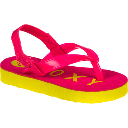 Surf Good luck trying to get your little lady to take the Roxy Little Girls' Bahama IV Flip Flops off of her feet. These cushy little flip flops will keep her feet feeling free and happy all summer long. - $11.20