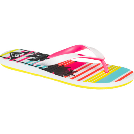 Surf Roxy knows what surfer-girls want, and it's the glittery, bright, and sporty Girls' Tahiti IV Sandal. Not only does it have beachy good looks, it also features a supportive, durable EVA footbed and sole. Girls may not know they want the latter, but they do want comfy all-day play. - $11.20