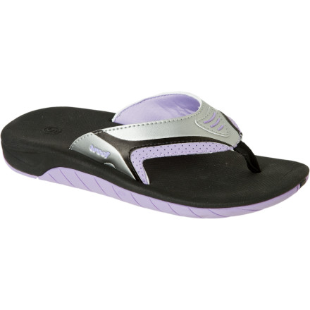 Surf The girl in your life has sea shells to find, waves to splash through, and sand castles to build and destroy. The Reef Girl's Little Slap 2 Sandals give her water-friendly comfort so she can tear up the beach without her feet getting torn up by the sand and rocks. - $20.76