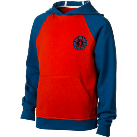 Surf Volcom Band Fleece Pullover Hoodie - Boys' - $37.09
