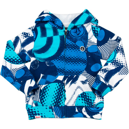 Surf Volcom Maguro Face Fleece Full-Zip Hoodie - Toddler Boys' - $51.96