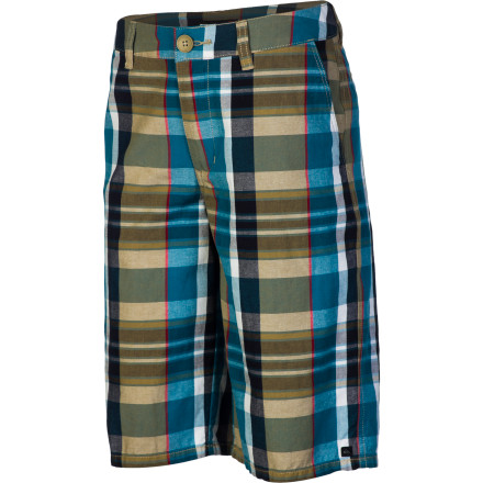 Surf For something a little more colorful than your standard khaki short, get him the Quiksilver Nectar Boys' Short. It has a comfortable cotton fabric with a plaid pattern that provides a break from the norm. - $33.00
