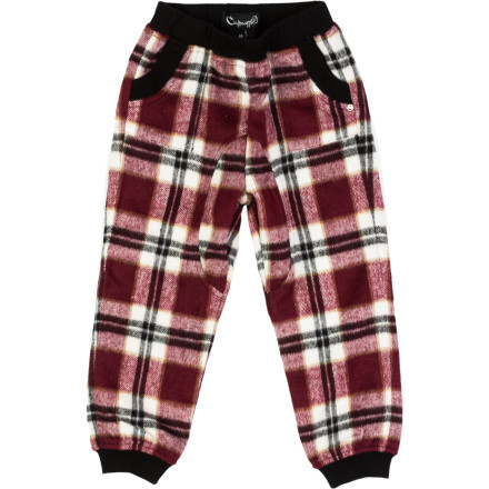The A For Apple Boys' Nat Pants throw down with serious urban style while they keep your kid comfortable and feeling good. These pants will make him feel like he's wearing sweatpants even though the have an off-the-runway flavor that will make him look great. - $49.48
