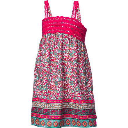 Surf Lay out the Billabong Girls' Moonflowerz Dress for her to wear to the neighborhood's annual barbecue block party, and snap a few shots of her with sparklers in hand. - $22.07