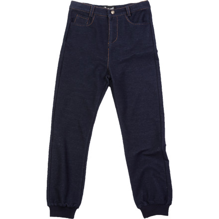 The A For Apple Girls' Greer Denim Pants blend total comfort and high style thanks to soft fabrics and fashion-forward design. It's a big-time fashion in a smaller size. - $27.58