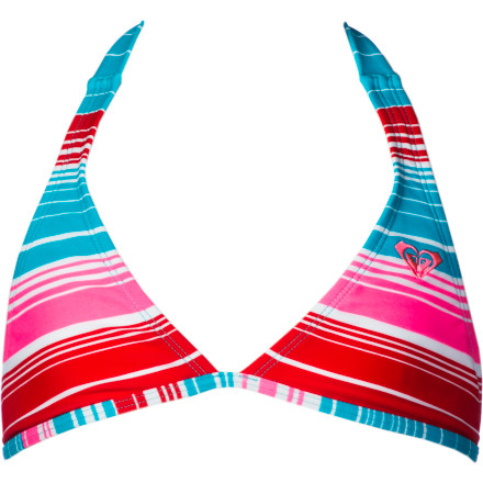 Surf Roxy Carefree Crusin '70s Halter Swimsuit - Girls' - $44.00