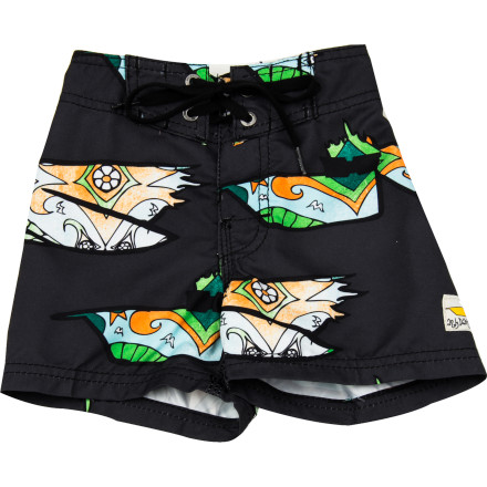 Surf The Billabong Toddler Boys' Andy Davis Pelly II Board Short features the iconic artwork of surfer and artist Andy Davis and is assembled from 100% recycled polyester from plastic bottles. Now you, your kid, the pelicans, and the water can all be happy. - $32.14