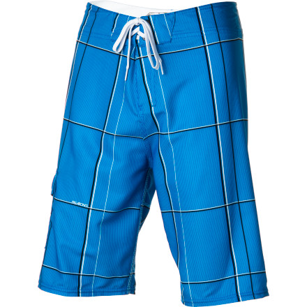 Surf Yes, the Billabong R U Serious Boys' Board Short is seriously that comfortable. The four-way stretch fabric allows total freedom of movement and it dries super quickly so he stays warm while he's lounging on shore. - $38.21