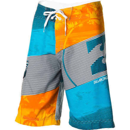 Surf Whether he's blasting waves on his surfboard or blasting his friends with a water gun, keep him happy and comfortable in the Billabong Blaster Boys' Board Short. - $35.66