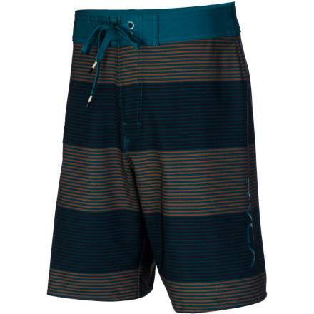 Surf Keep your kid looking fresh and feeling good in and out of the water with the quick-drying, four-way stretching RVCA Civil Stripe Board Short. - $54.95